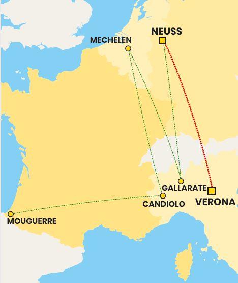 Mappa collegamento verona-neuss